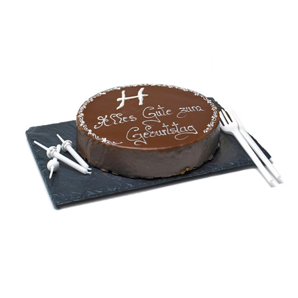 HENRY'S Chocolate and Cherry Cake, dia. 18 cm (incl. 1x sparking candle)